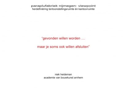 Samen Architectuur Maken Expositieruimte Nijmegen verbouwing 2
